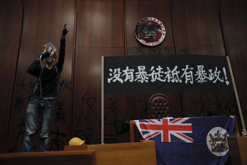Riot police clear away protests from Hong Kong legislature - Read More from Associated Press