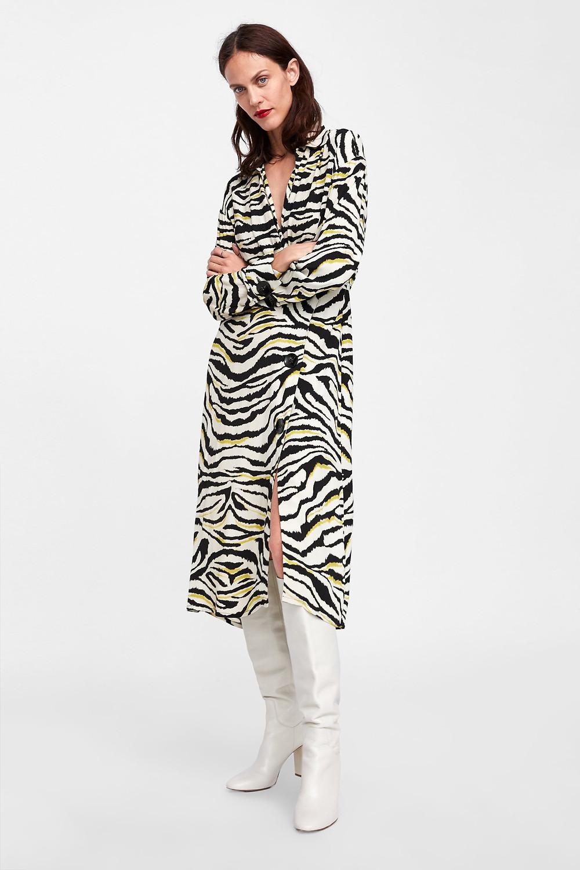 Zara Zebra Printed Dress $69.90