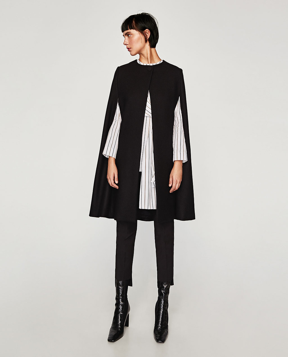 Zara Long Cloth Cape $149