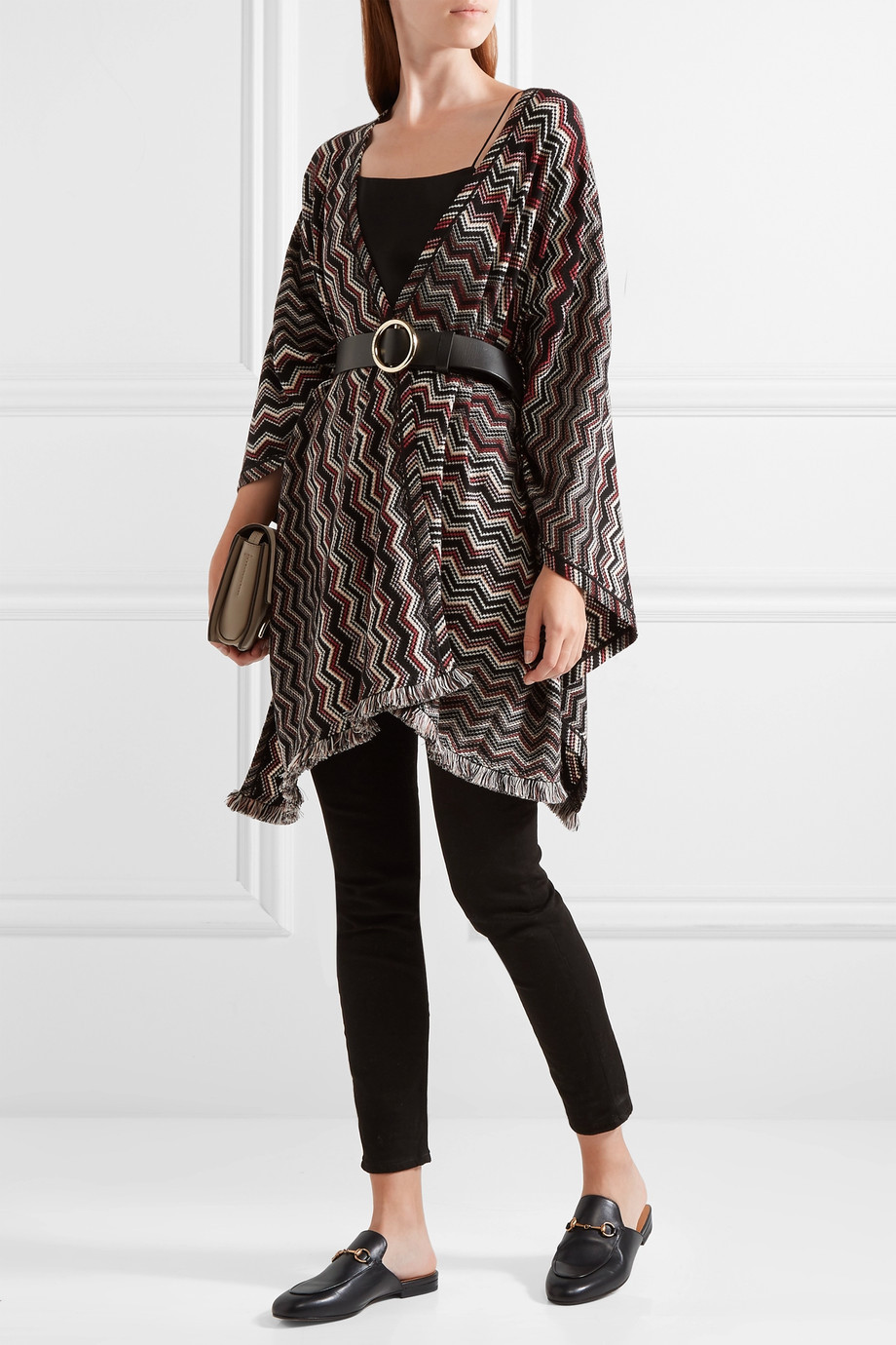 Missoni Fringed crochet-knit wool-blend wrap $920