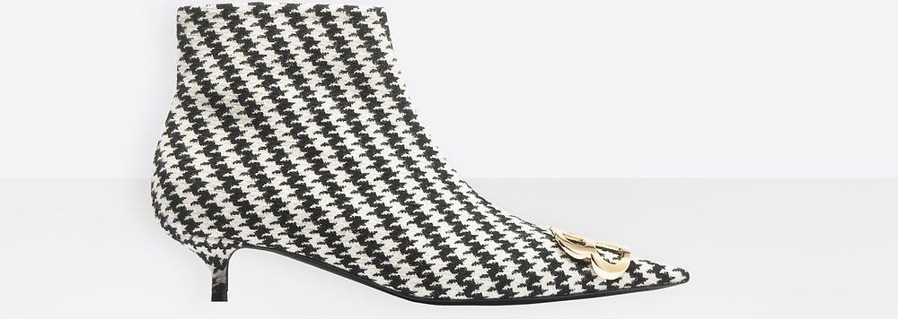 Balenciaga BB Booties in Houndstooth $1,450
