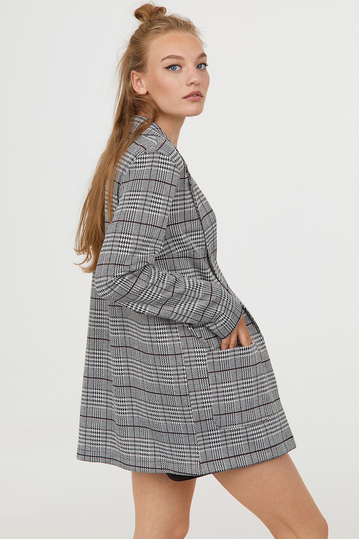 H&M Checked Long Jacket $34.99