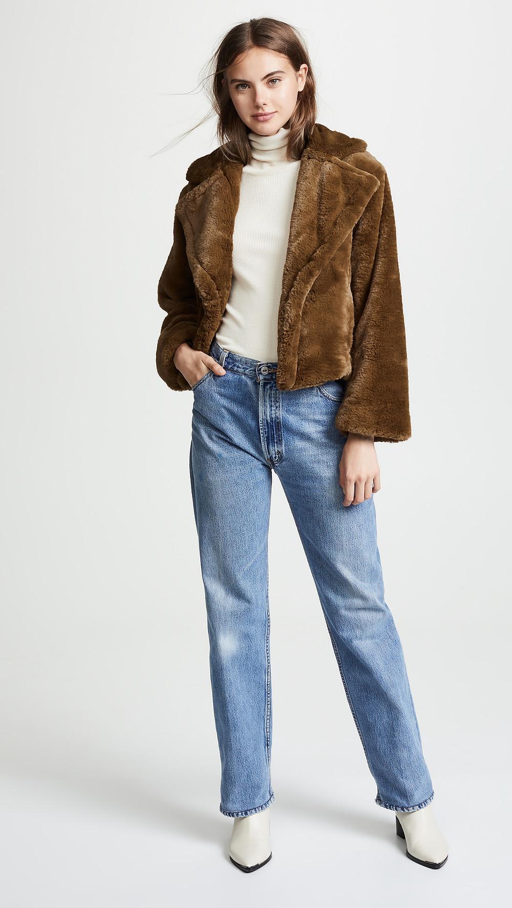 Vince Plush Coat $495