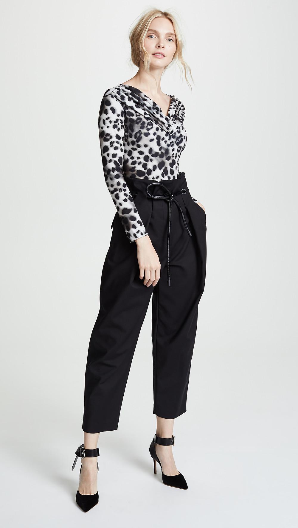 Koche Long Sleeve Leopard-print Bodysuit $495