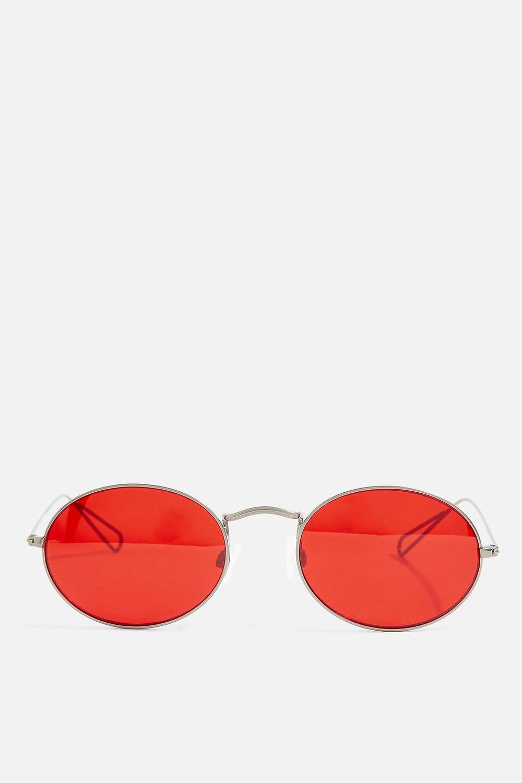 Topshop Metal Oval Sunglasses $26
