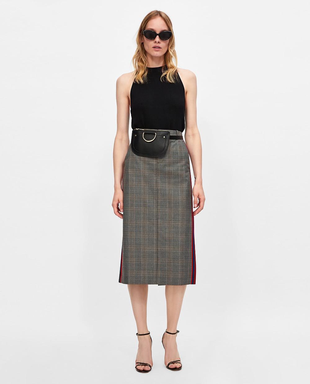 Zara Check Pencil Skirt $19.99