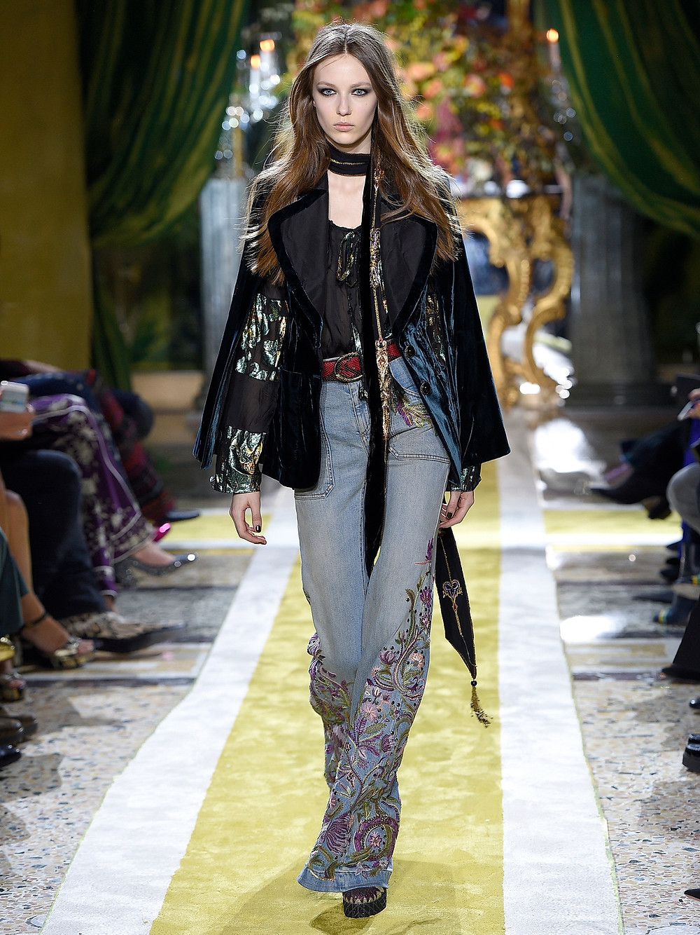 Roberto Cavalli Velvet tailored cape now $966
