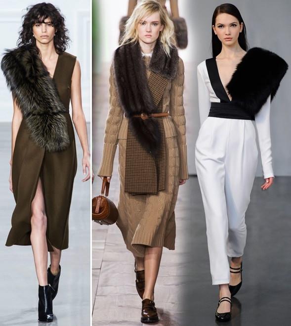 (L to R)-faux fur Stole-Jason Wu, Michael Kors, Rachel Zoe