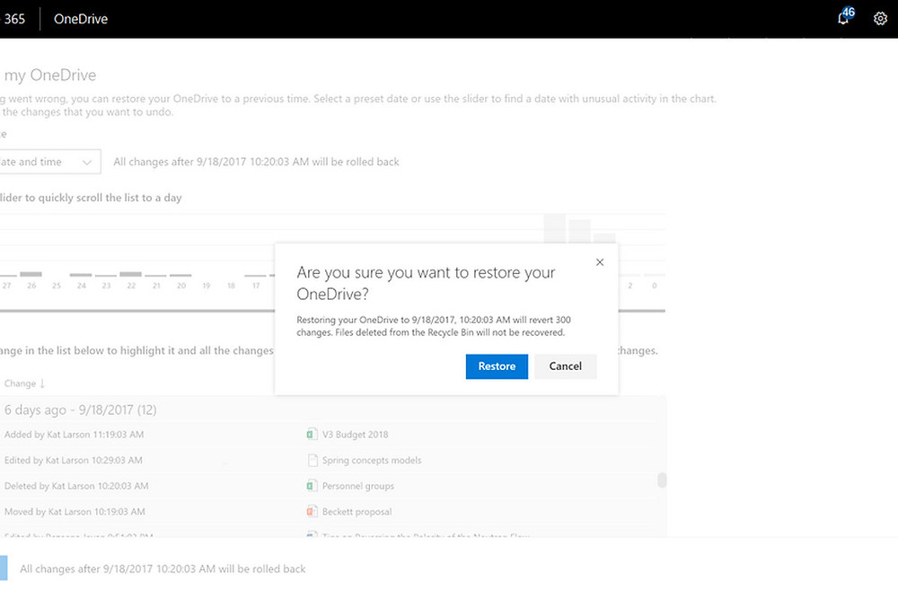 Microsoft now lets enterprise users recover corrupted or deleted files from the past 30 days - Read More from The Verge