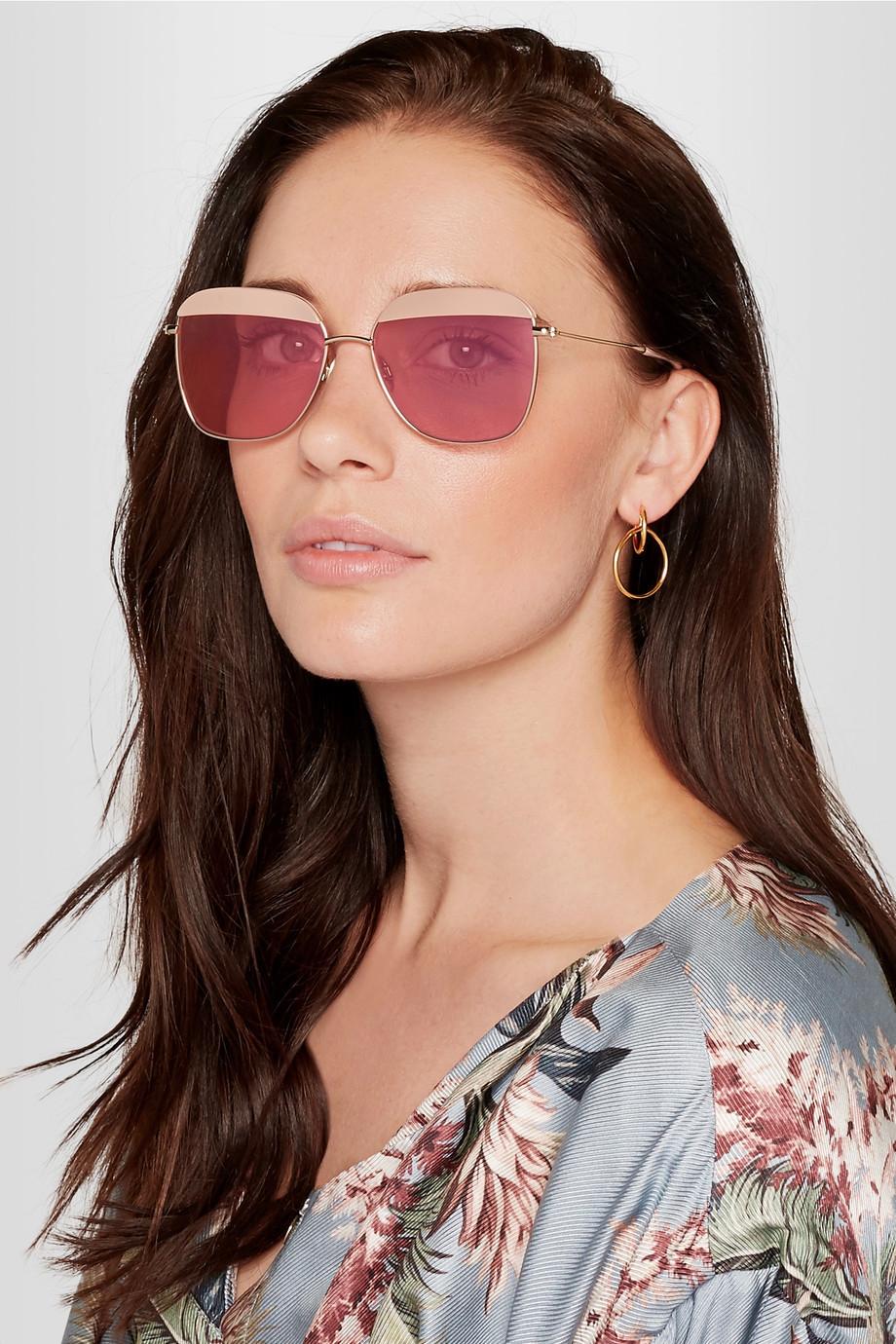 Sunday Somewhere Vito square-frame gold-tone and acetate sunglasses now $117