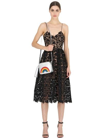 Anya Hindmarch rainbow style metallic leather shoulder bag $1,019