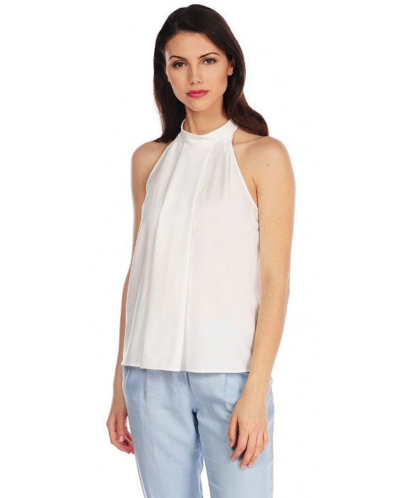 RD Style crepe high neck top $60