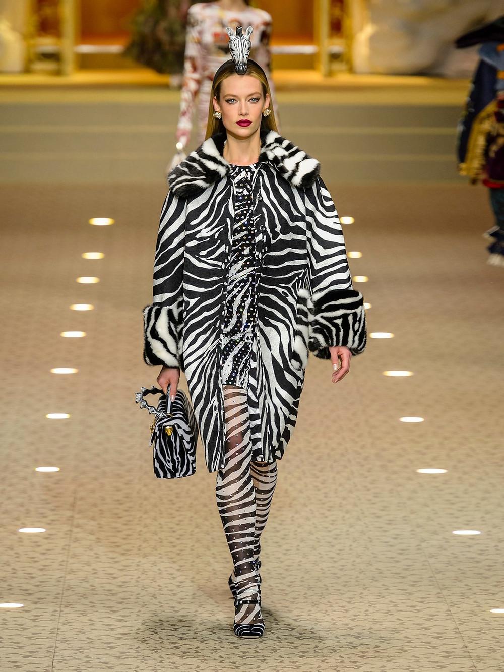 Dolce & Gabbana Zebra-print crystal-embellished mini dress $10,500