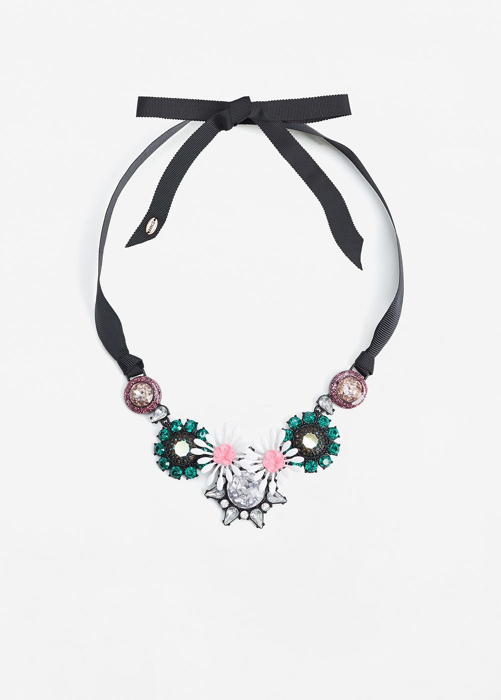 Mango Bow crystals necklace now $14.99