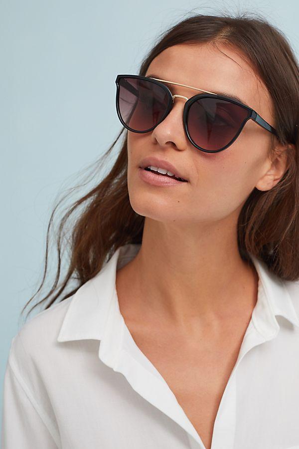 Brow-Bar Cat-Eye Sunglasses $38