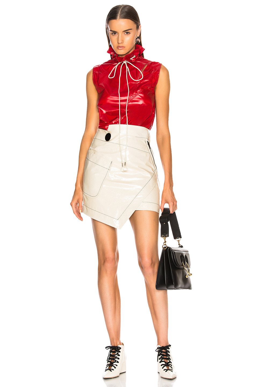 Petar Petrov for FWRD for FWRD Rooney Leather Wrap Skirt $456