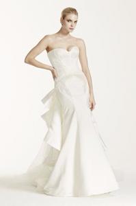 Truly Zac Posen Strapless Satin Wedding Dress $1,050