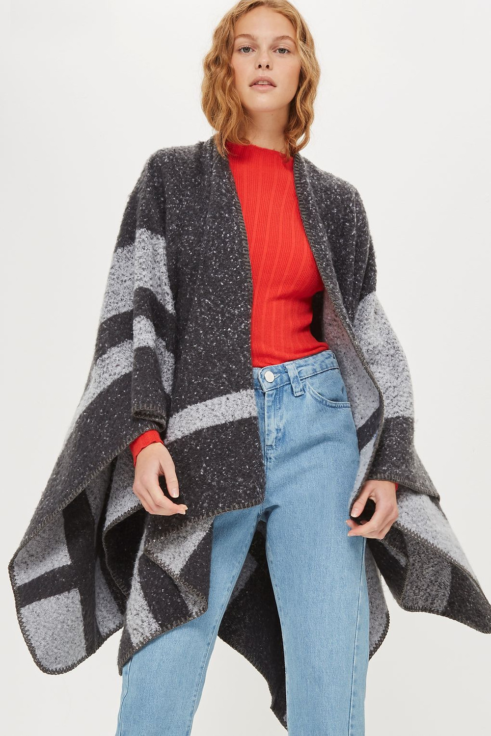 Topshop Colour Block Cape $60