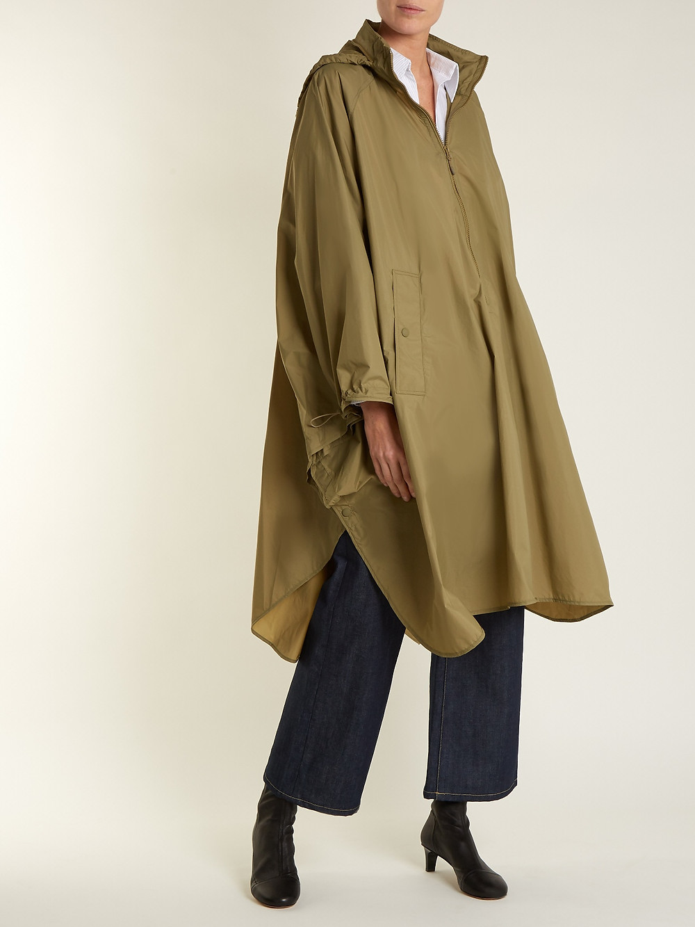 Isabel Marant Etoile Christo funnel-collar lightweight cape $380