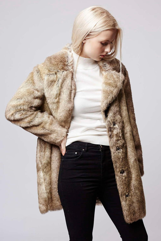 Topshop-Faux Fur Tawny Coat-$180