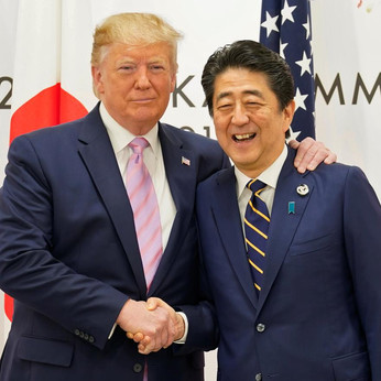 Trump says to talk trade, defense with Japanese PM Abe at G20
