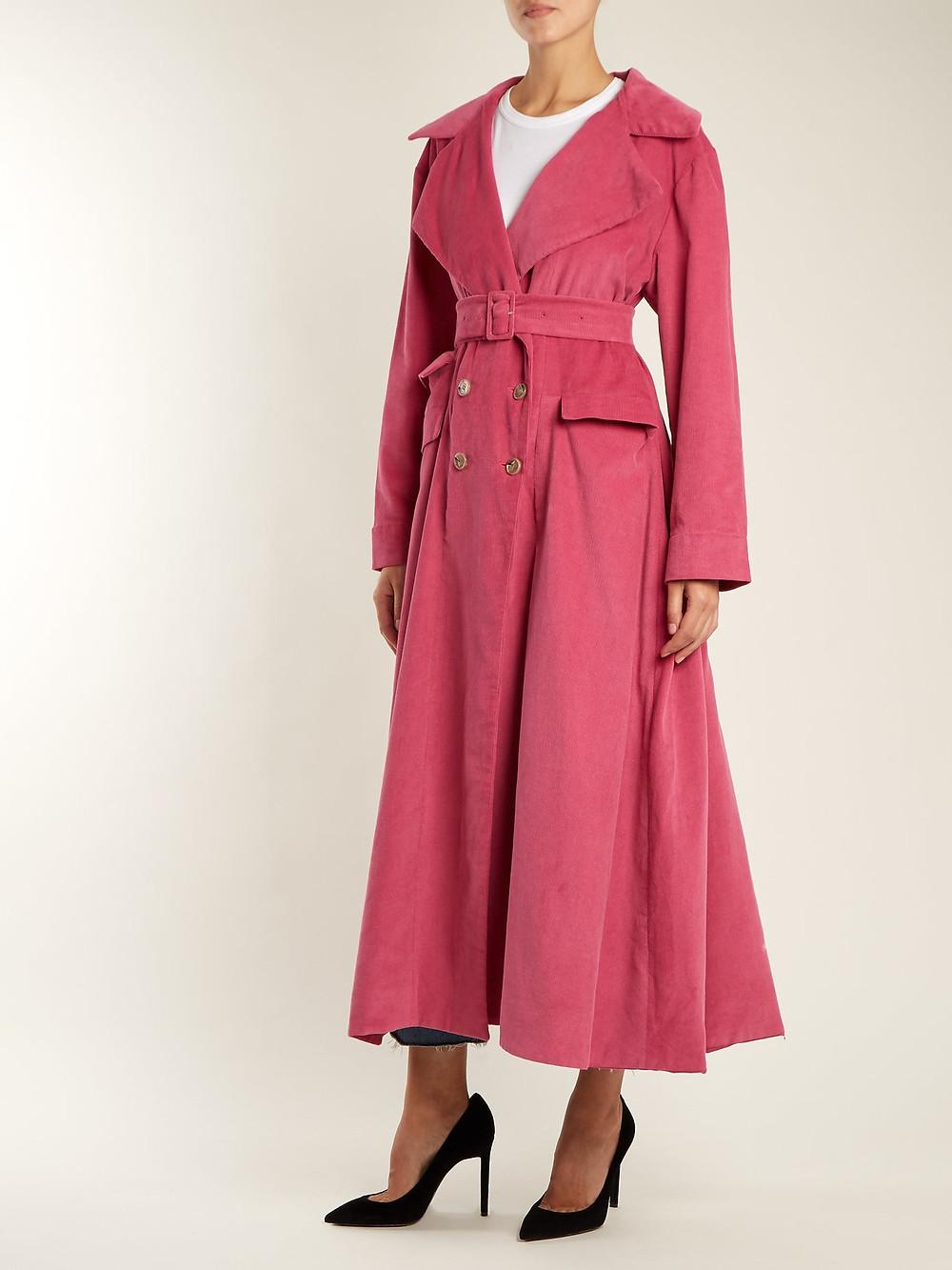 Art School Euphoria corduroy trench coat $418