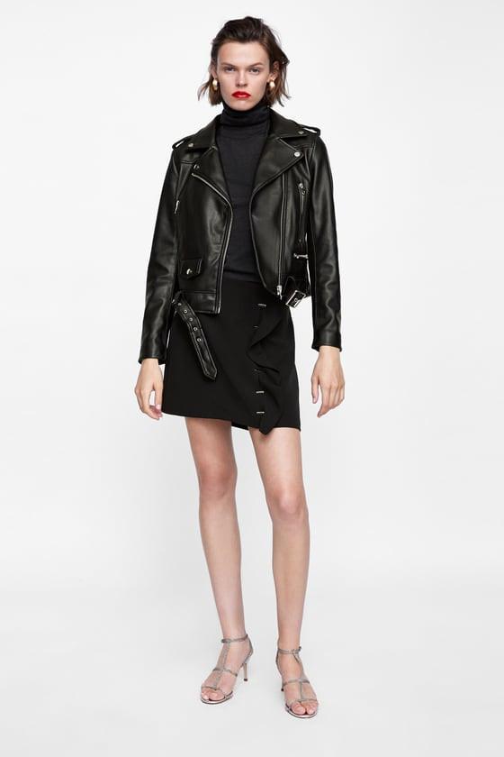 Zara Faux Leather Biker Jacket $69.90
