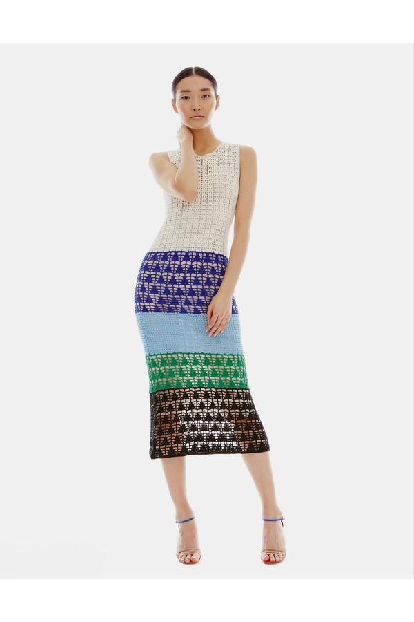Novis The Elm Sleeveless Macramé Hand Crochet Dress $2,295