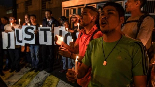 Venezuela protests over jailed opposition lawmaker's death - Read More from BBC News