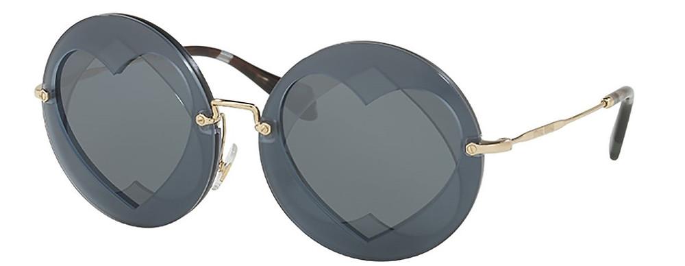 Miu Miu Round Layered Heart Sunglasses $390