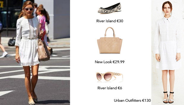 An Olivia Palerno day look for less