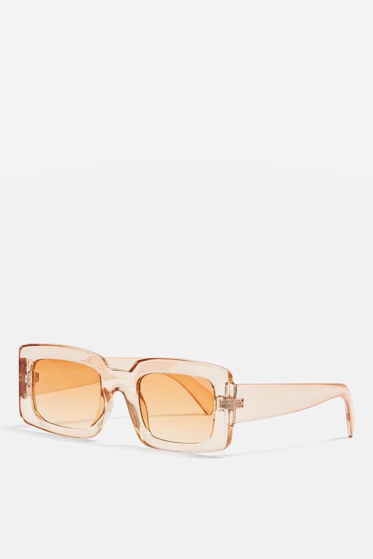 Topshop Willis Rectangle Frame Sunglasses $30