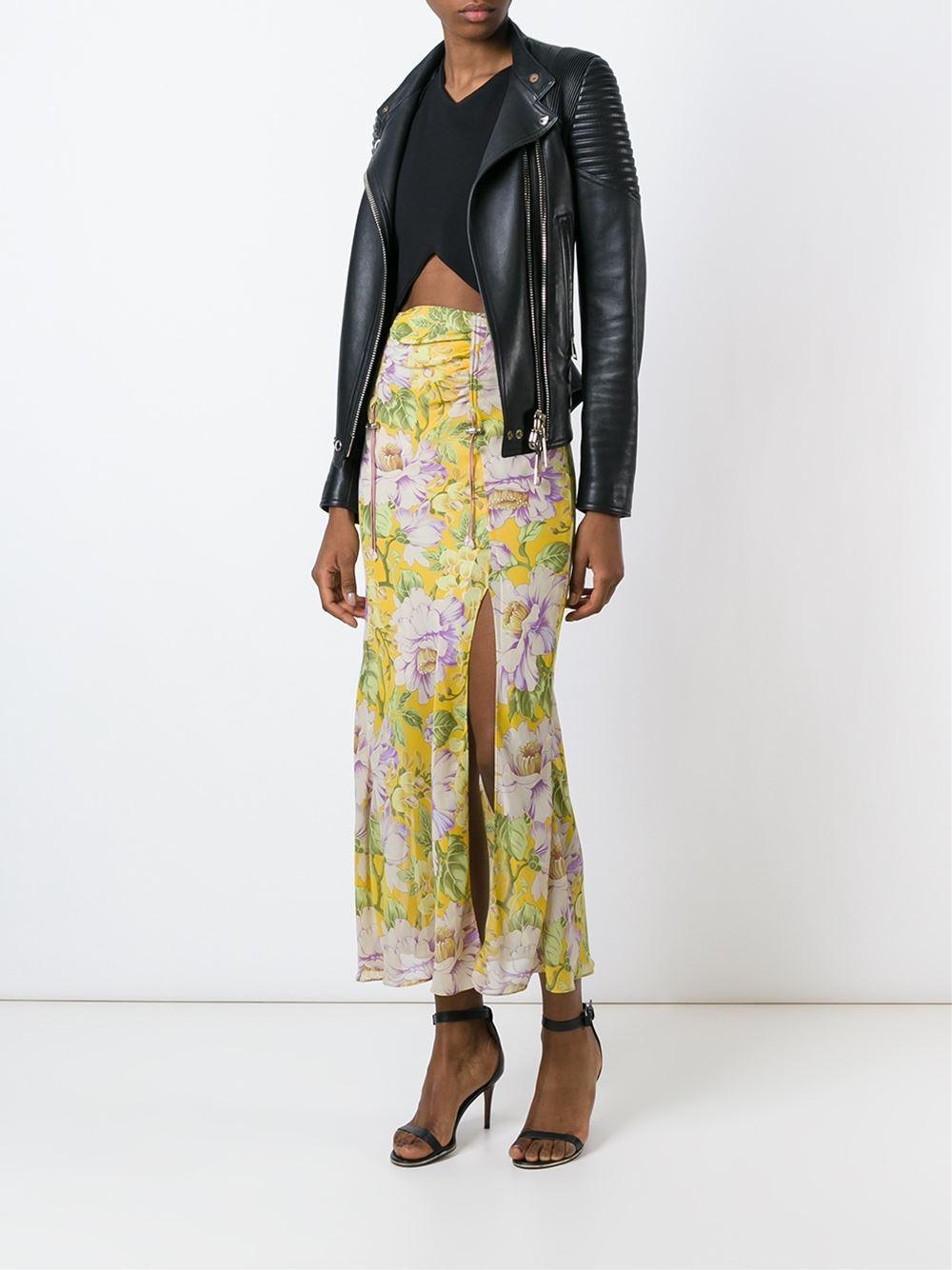 John Galliano Vintage flower print skirt $464