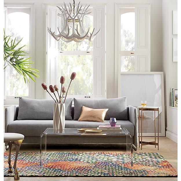 CB2 rainbow snakeskin rug $134-$719