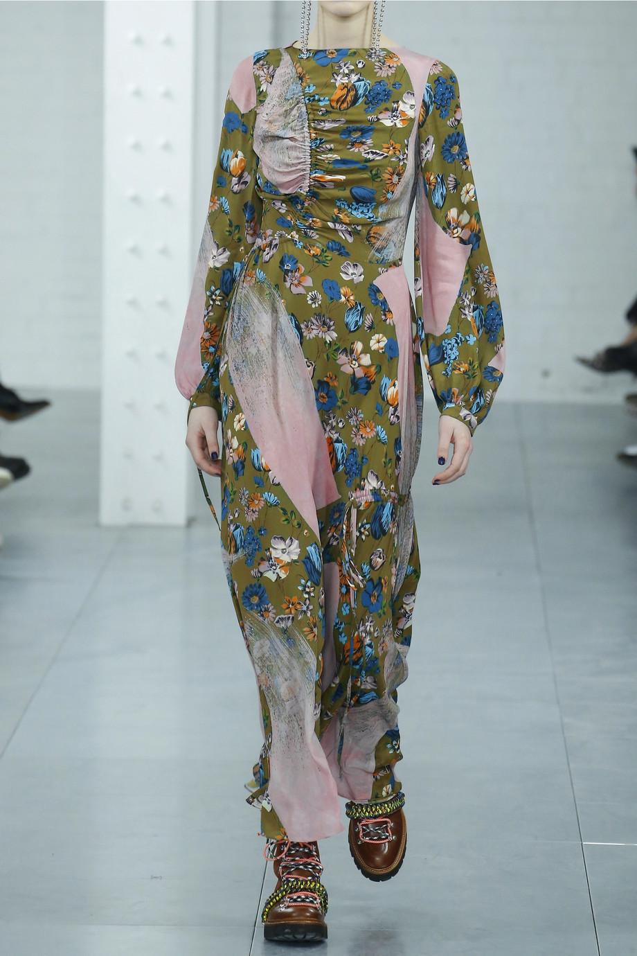 House of Holland Patchwork Floral-print crepe de chine maxi dress $670