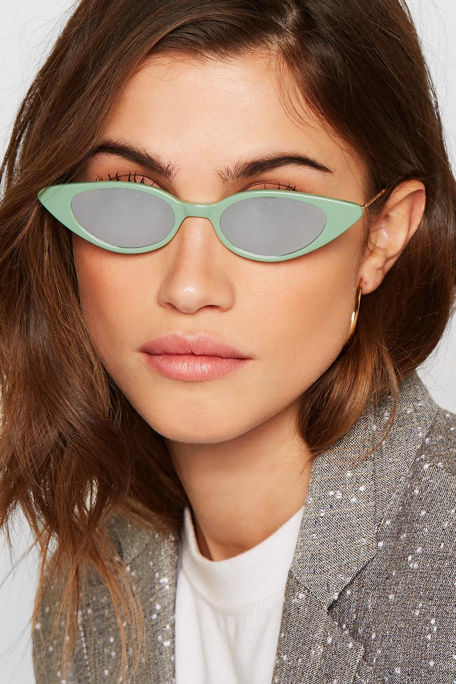 Illesteva Marianne cat-eye acetate mirrored sunglasses $190