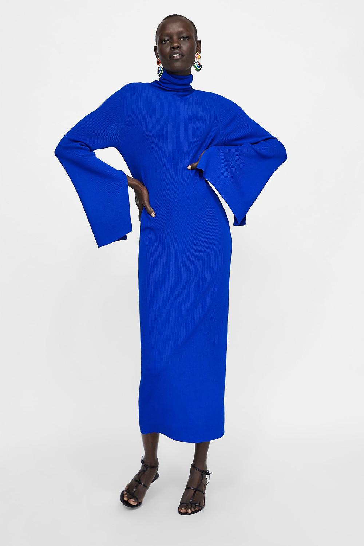 Zara Long Ribbed Dress $49.90