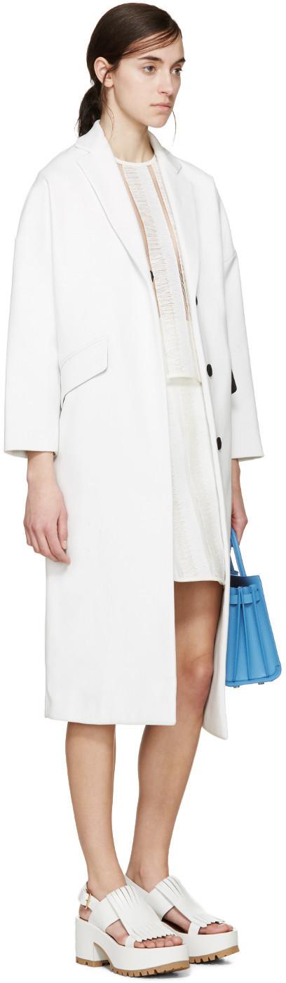 MSGM White Raffia Wrap Skirt $365