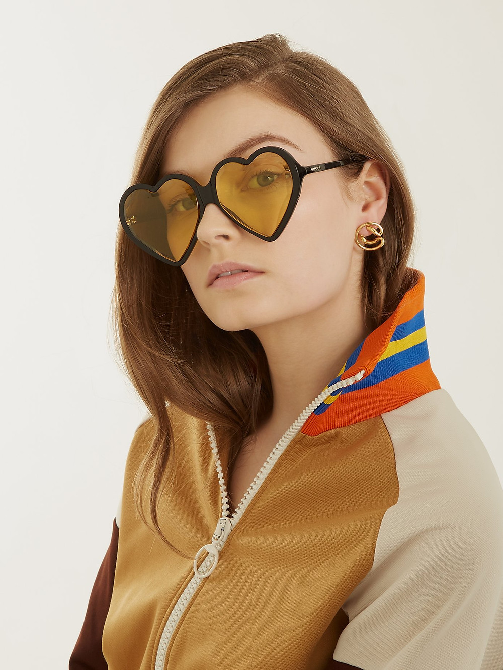 Gucci Heart-shaped frame tinted sunglasses $375