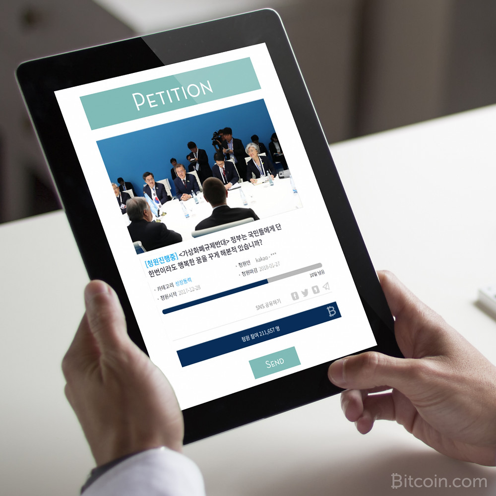 215,000+ Sign Petition Against South Korean Crypto Regulation – Government to Respond - Read More at Bitcoin.com
