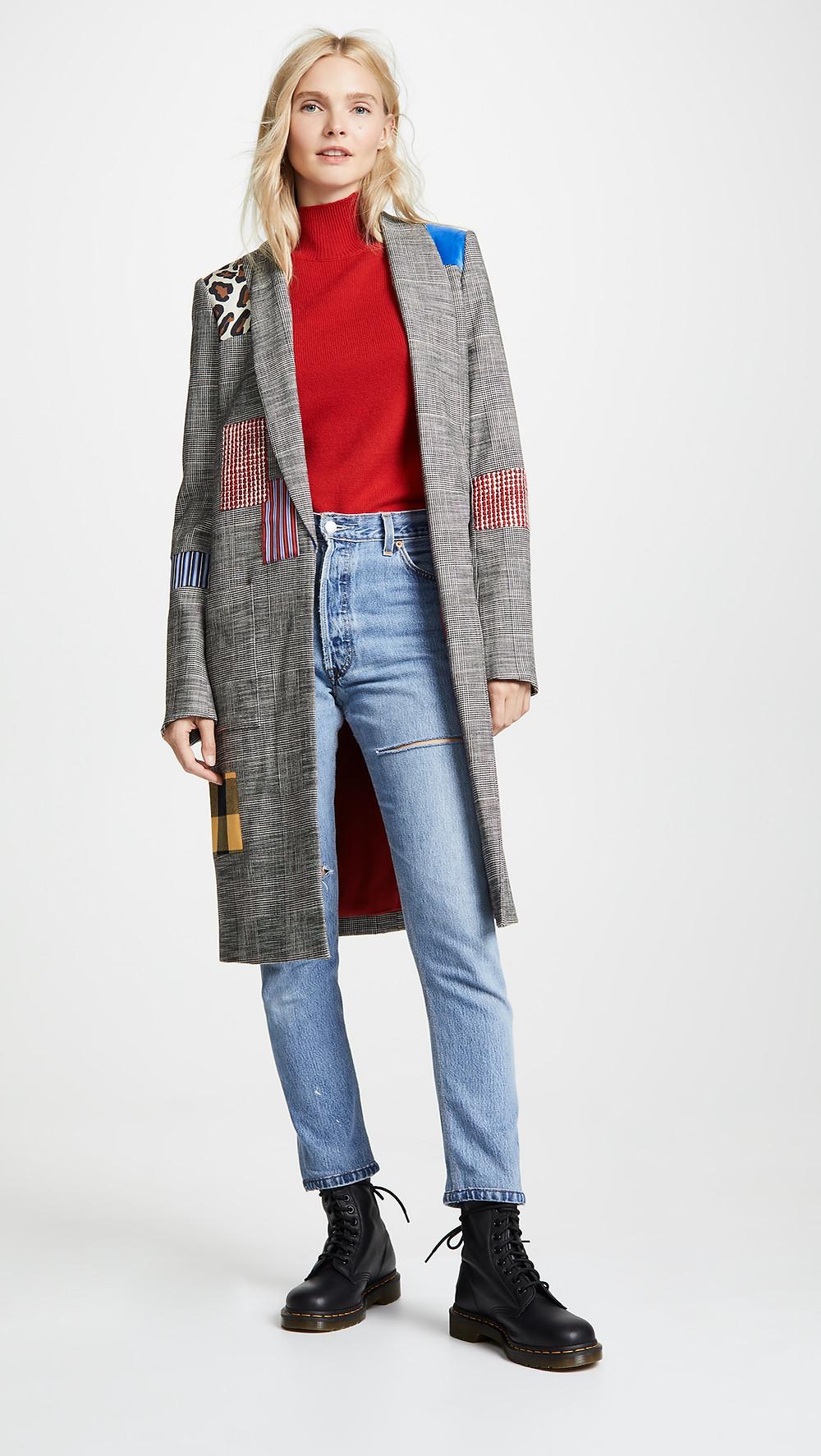 alice + olivia Kylie Patchwork Jacket $595