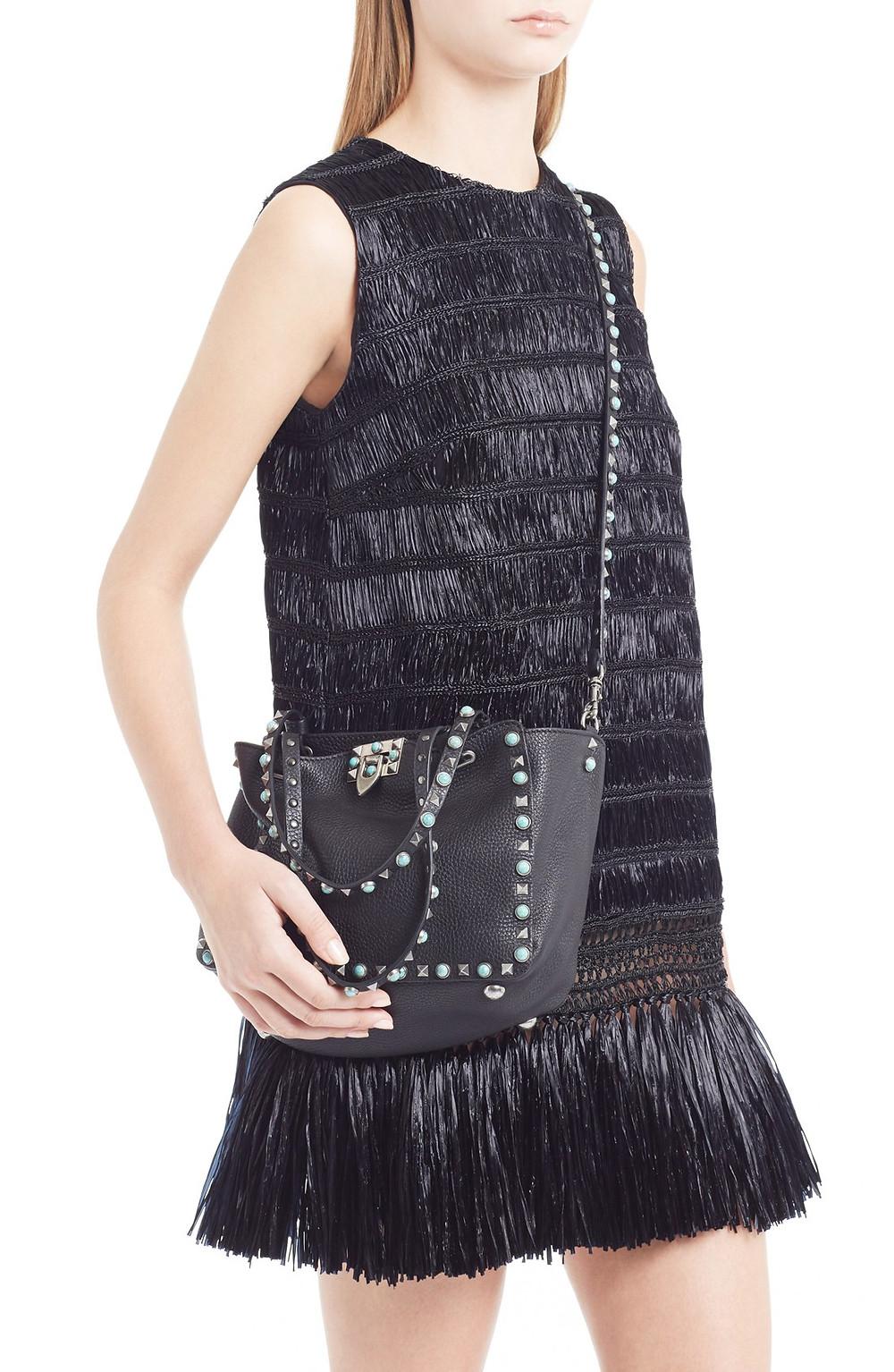 Valentino Fringe Trim Raffia Dress $3,950