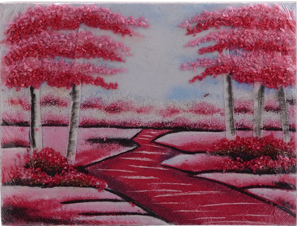 Pink Pathway Ruby, Rose Quartz, Black Spinel and Multi Gemstone Artwork (12x16 in) now $59.99 -available at Liquidation Channel
