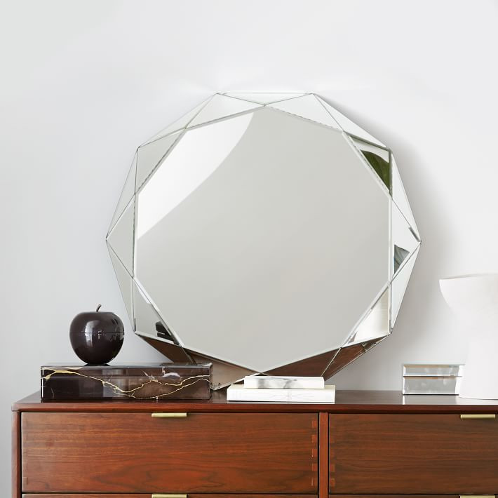 West Elm Faceted Mirror-Large $249