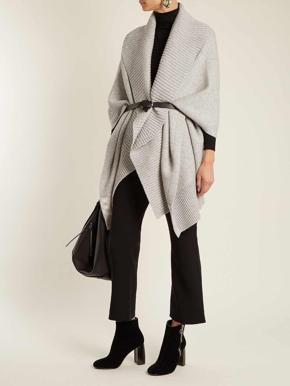 Burberry Ribbed-lapel wool and cashmere-blend poncho $723