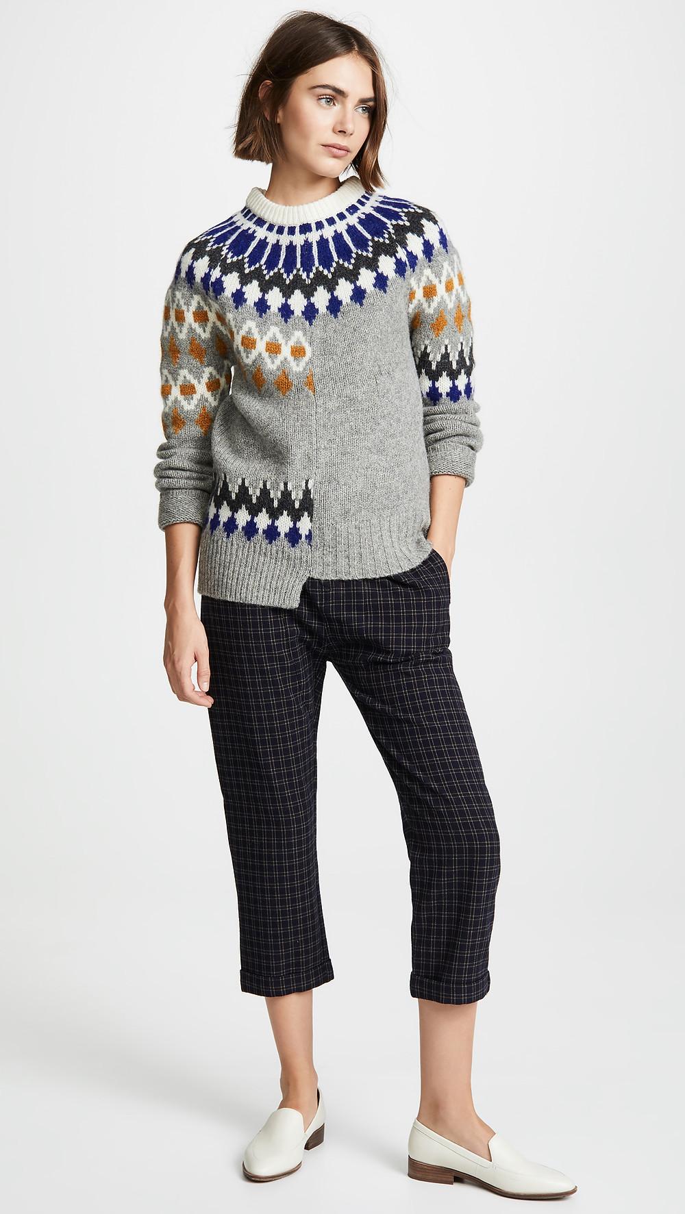 Joseph Patchwork Sweater $405
