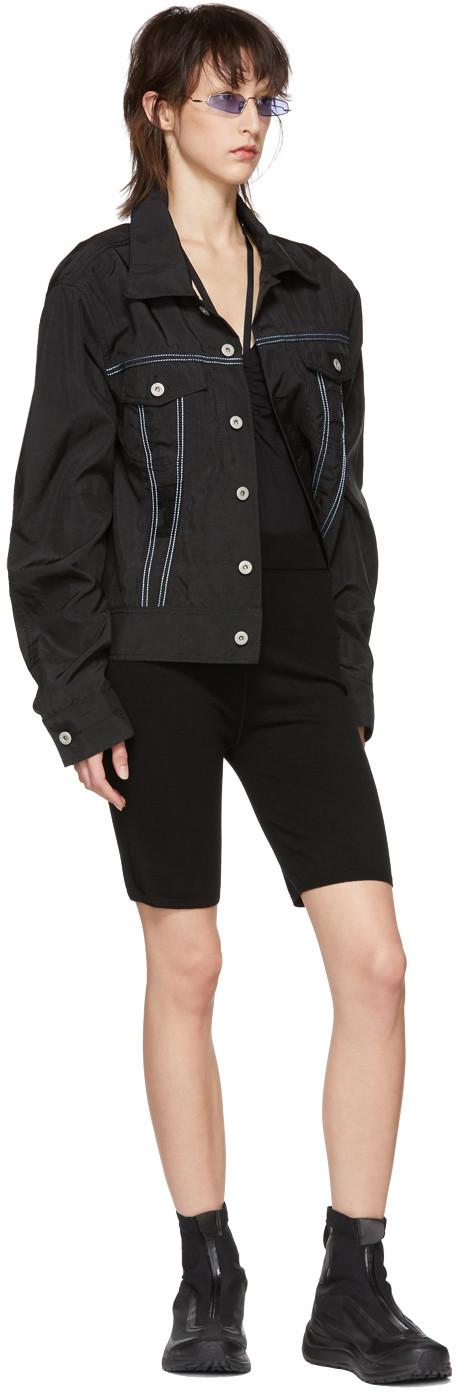 alexanderwang.t Black Bodycon Basics Biker Shorts $295