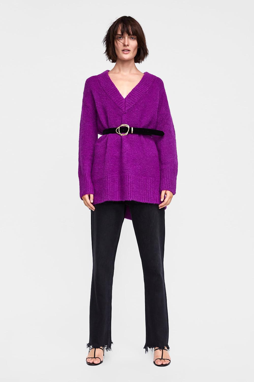 Zara Oversized V-Neck Sweater $59.90