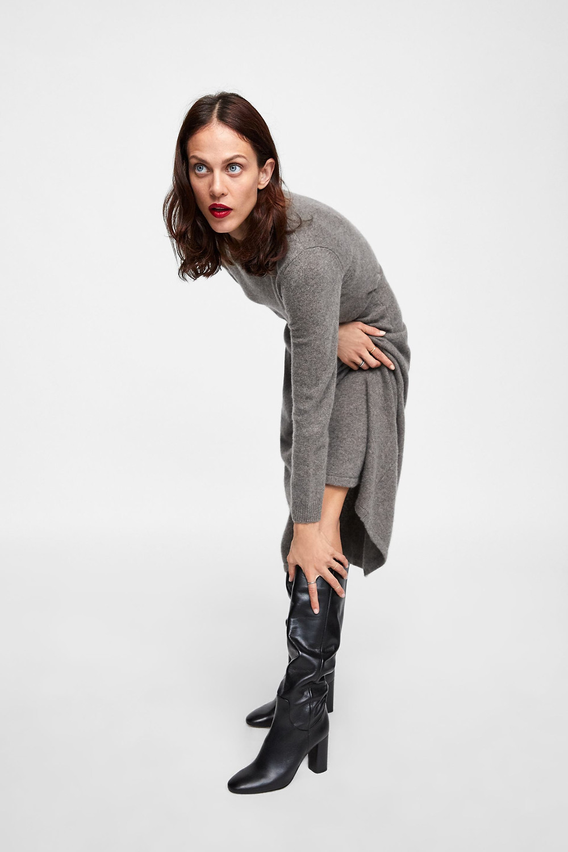 Zara High Heeled Leather Boots $199