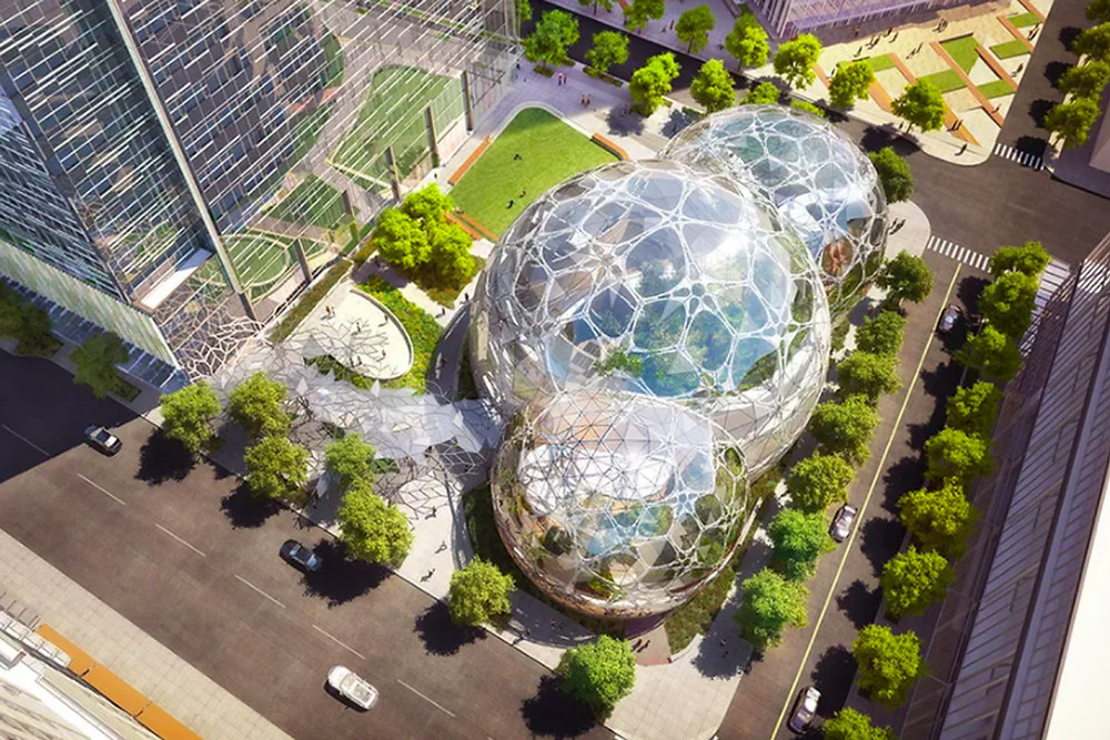 Amazon's mini rainforest work space spheres are opening in Seattle - Read More from The Verge